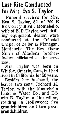 The Los Angeles Times, March 6, 1955, page 36, column 1.