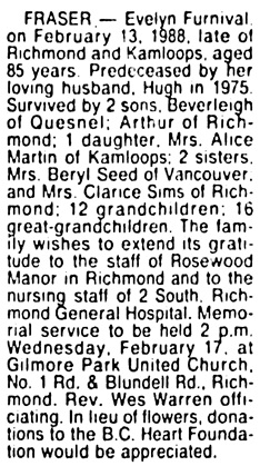 Vancouver Sun, February 16, 1988, page 19, column 7.