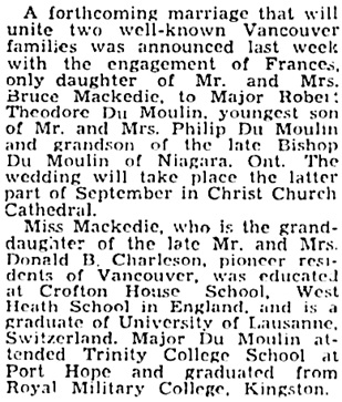 The Gazette (Montreal), August 27, 1941, page 13, column 3.
