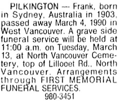 Vancouver Sun, March 9, 1990, page 43, column 7.