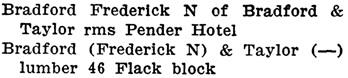 Henderson's City of Vancouver Directory, 1909, page 424.