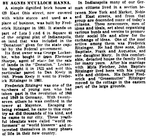 The Indianapolis Star (Indianapolis, Indiana), July 12, 1931, page 48, column 4.The Indianapolis Star (Indianapolis, Indiana), July 12, 1931, page 48, column 4.