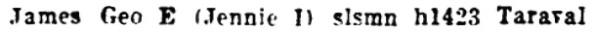 San Francisco, California, City Directory, 1926, page 1109, column 1.