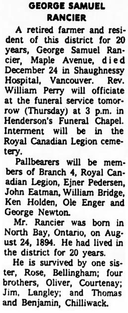 The Chilliwack Progress, January 3, 1968, page 2, column 6.
