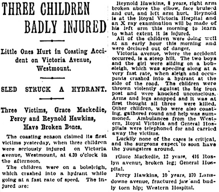 The Gazette (Montreal), November 30, 1904, page 9, column 3.