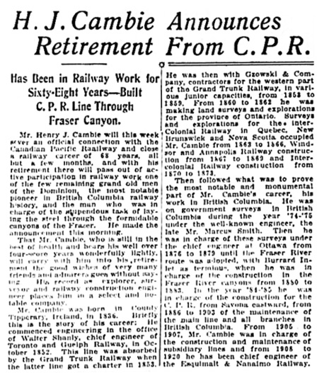 Vancouver Daily World, March 18, 1920, page 8, columns 2-3.