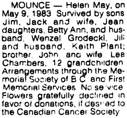 Vancouver Sun, May 11, 1983, page 44, column 8.