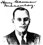 Henry Cameron Macaulay, 1940; from petition for naturalization.