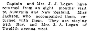 Vancouver Daily World, January 20, 1912, page 9, column 4.