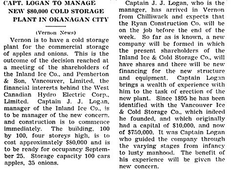 The Chilliwack Progress, August 6, 1931, page 1, column 5.