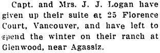 The Chilliwack Progress, January 15, 1913, page 6, column 4.