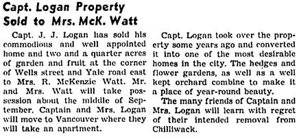 The Chilliwack Progress, July 30, 1941, page 5, column 5.