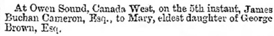 Glasgow Herald (Glasgow, Scotland), May 30, 1863, page 5, column 5.
