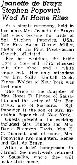 Sausalito News, March 13, 1952, page 2; https://cdnc.ucr.edu/cgi-bin/cdnc?a=d&d=SN19520313.2.36.