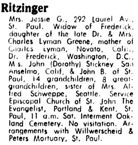 Star Tribune (Minneapolis, Minnesota); April 11, 1970, page 25, column 4.