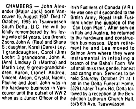Vancouver Sun, October 20, 1995, page D3 [image 69], column 3.