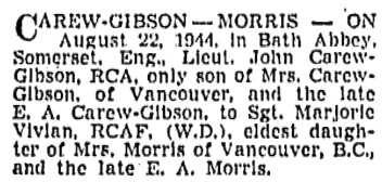 Vancouver Sun, September 28, 1944, page 15, column 1.
