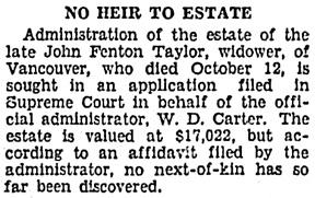 Vancouver Sun, June 5, 1931, page 18, column 3.