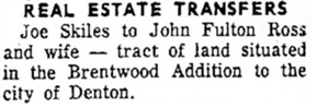 Denton Record-Chronicle (Denton, Texas), August 4, 1954, page 3, column 3.