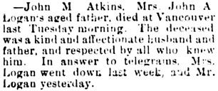 The Chilliwack Progress, February 13, 1895, page 2, column 3.