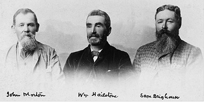 John Morton, William Hailstone and Sam Brighouse, about 1886; Vancouver City Archives, Port P97; https://searcharchives.vancouver.ca/john-morton-william-hailstone-and-sam-brighouse.