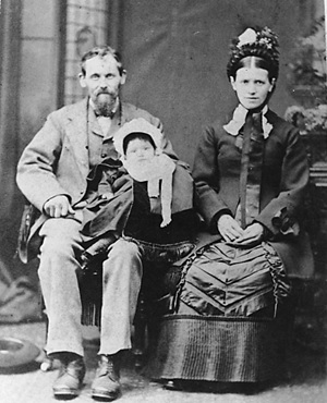 John Morton, his first wife Jane Morton (nee Bailey) and their daughter Elizabeth; about 1880, Vancouver City Archives, CVA 677-510; https://searcharchives.vancouver.ca/studio-portrait-of-john-morton-his-first-wife-jane-morton-nee-bailey-and-their-daughter-elizabeth.
