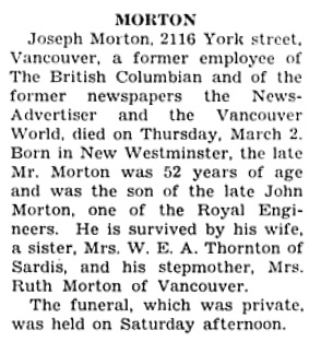 The Chilliwack Progress, March 9, 1933, page 5, column 4.