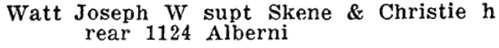 Henderson's Greater Vancouver Directory, 1912, Part 2, page 1296.