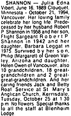 Vancouver Sun, October 24, 1994, page 13, column 7.