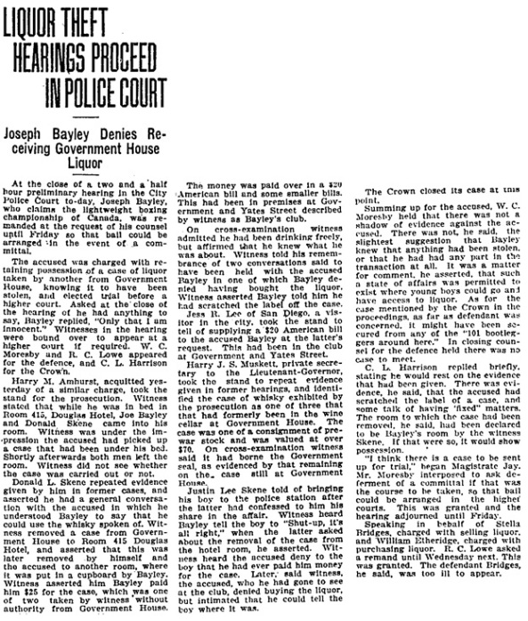 Victoria Daily Times, December 31, 1924, page 9, column 6.