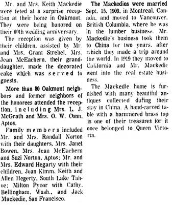 The Press Democrat (Santa Rosa, California), September 25, 1969, page 18, columns 3-4.