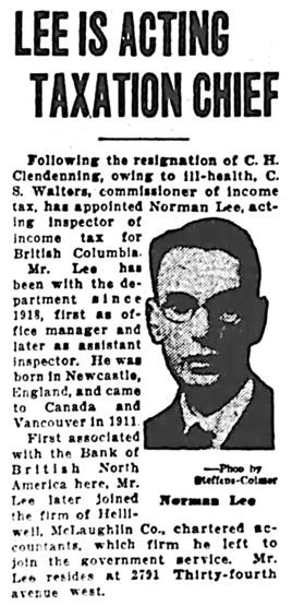 Vancouver Sun, November 5, 1928, page 1, column 6.