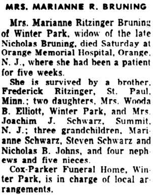 The Orlando Sentinel (Orlando, Florida), November 10, 1952, page 5, column 4.