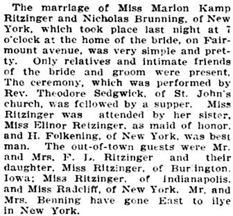 The Saint Paul Globe (Saint Paul, Minnesota), January 1, 1902, page 13, column 3.