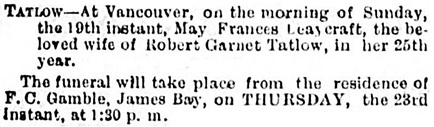 Victoria Daily Colonist, December 22, 1886, page 3, column 1; https://archive.org/stream/dailycolonist18861222uvic/18861222#page/n2/mode/1up.