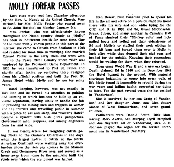 Nechako Chronicle, January 19, 1961, page 1, column 4; http://archive.vanderhooflibrary.com/archive/NechakoChronicle/1961/19610119/19610119.pdf.