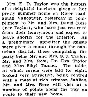 Vancouver Sun, August 24, 1912, page 7, column 4.