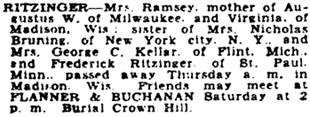 The Indianapolis News (Indianapolis, Indiana), October 16, 1936, page 38, column 2.