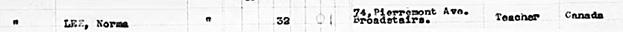 Ancestry.com. UK, Incoming Passenger Lists, 1878-1960 [database on-line]. Provo, UT, USA: Ancestry.com Operations Inc, 2008. UK, Incoming Passenger Lists, 1878-1960 for Norma Lee; Southampton, England 1952 Jul.