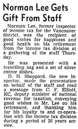 Vancouver Sun, March 25, 1944, page 2, column 3.