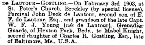 North Devon Journal (Barnstaple, England), February 19, 1903, page 8, column 7.