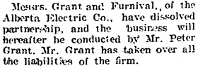 Edmonton Journal, June 13, 1905, page 5, column 3.