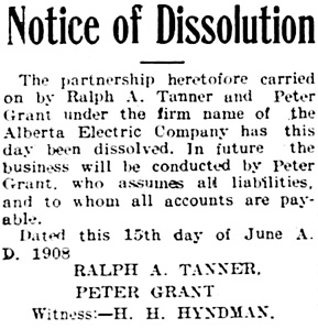 Edmonton Journal, June 16, 1908, page 5, column 5.