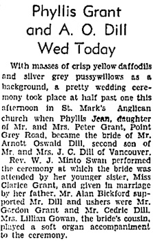 Vancouver Sun, March 30, 1935, page 16, column 6 [first portion of article].