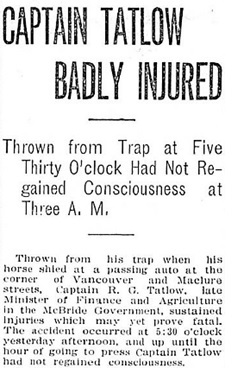Victoria Daily Colonist, April 9, 1910, page 1, column 6; https://archive.org/stream/dailycolonist19100409uvic/19100409#page/n0/mode/1up [First portion of article.]