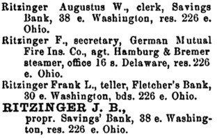 R. L. Polk & Co.'s Indianapolis City Directory, 1868, page 175; https://books.google.ca/books?id=ZyFEAQAAMAAJ&pg=PA175#v=onepage&q&f=false.