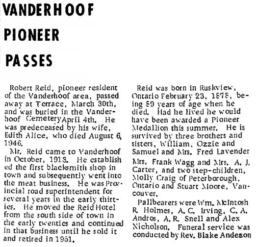 Nechako Chronicle, April 13, 1967, page 1, column 5; http://archive.vanderhooflibrary.com/archive/NechakoChronicle/1967/19670413/19670413.pdf.