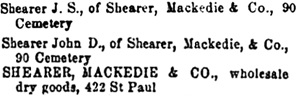 Montreal City Directory, 1870-1871, page 432, column 1 (selected portions).