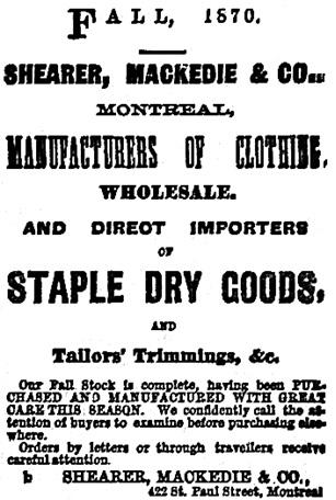 Toronto Globe, October 25, 1870, page 2.