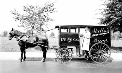 Shelly's horse drawn bread wagon - 601 West 10th Avenue; June 15, 1923; Vancouver Public Library; VPL Accession Number: 21577; https://www3.vpl.ca/spePhotos/LeonardFrankCollection/02DisplayJPGs/402/21577.jpg.